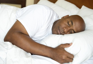 photo of person sleeping