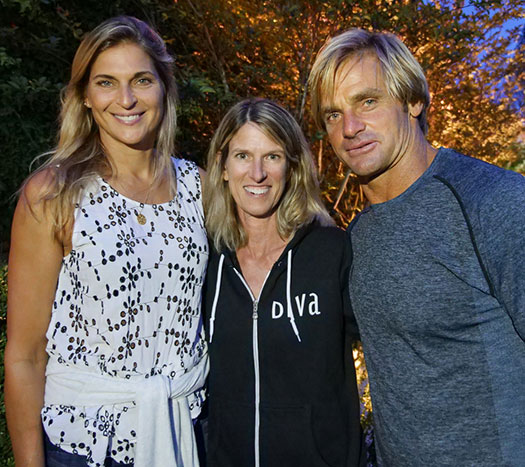 Elizabeth Ward with Gabby Reece and Laird Hamilton